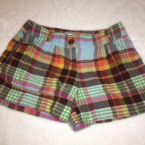 Soda Blu Plaid Lightweight Shorts Size Small
